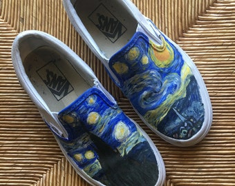 Hand-painted Starry Night Vans