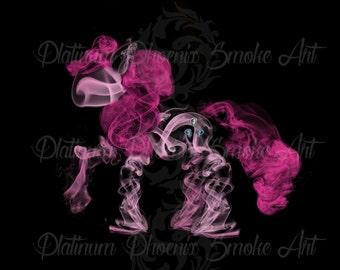 Pinkie Pie - PRINT | Smoke Art | Unique Custom Artwork