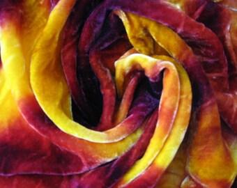 Hand Dyed Silk/ Rayon Velvet, Hand Dyed Velvet