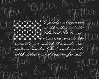 Pledge of Allegiance Flag SVG File