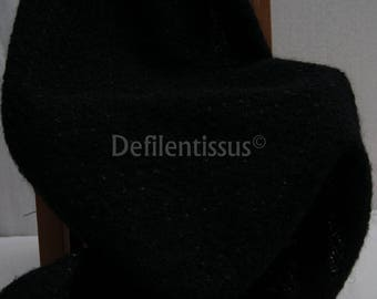 Black wool band sparkling for clothing or crafting