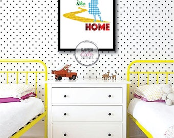 Printable Wizard of Oz Poster, No Place Like Home Wall Decor, Gift for Kids, Disney Room Decor