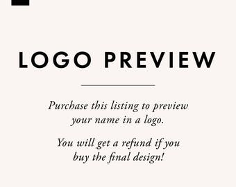 Preview a Logo - Premade Logo - Logo Design - Business Logo - Blogger Logo - Brand Design - Blog Header