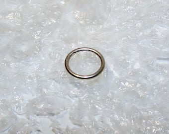 Ring silver soldered first title, round wire 1.2 mm, diameter 9.00 mm