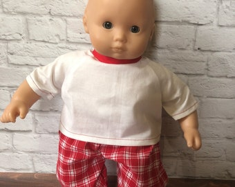 """Bitty Baby Outfit - Doll Clothes - 15"""" Doll Tops - Doll Outfits - Bitty Baby - 15"""" Dolls - Doll Tops - Doll Pants"""