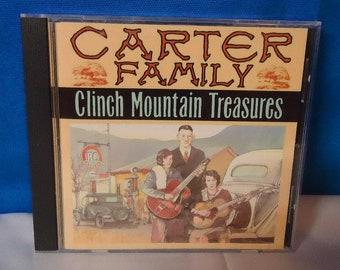 "032918 05 Used Carter Family ""Clinch Mountain Treasures"" CD Sony CCS CD 112"