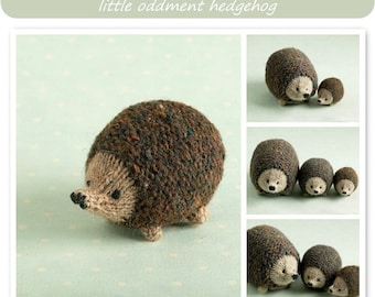 Toy knitting pattern for a little hedgehog