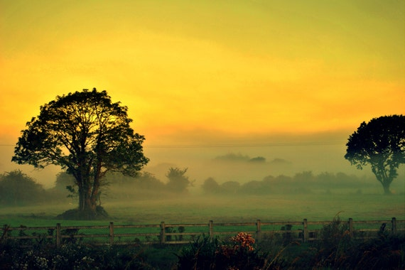 "Ireland Landscape Photograph of a summer sunrise 18"" x 12"""
