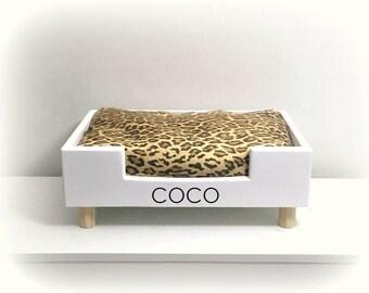 Personalized Dog Bed   Leopard Print Bed   Pet Beds   Pet Bedding   Pet Furniture   Dog Beds   Teacup Dog Bed   Cat Beds   Modern Dog Bed