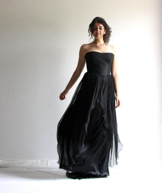Ben noto abito da sposa nero abito da sposa gotico abito da sposa AS51