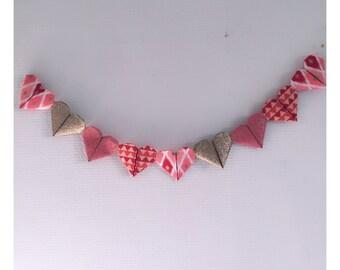Bali inspired origami hearts Garland
