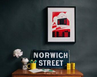 Revolutionary Norwich (UK) - Castle screen print