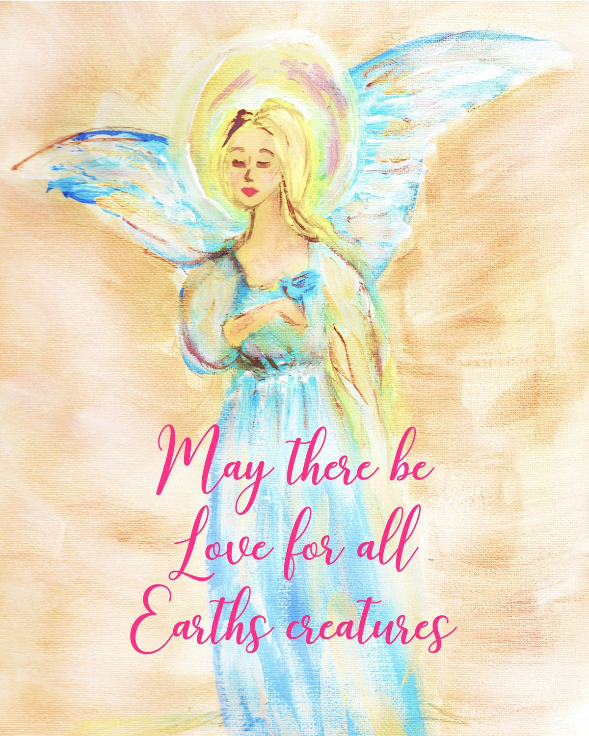 angel art inspirational decor digital download angelic