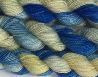 Mini skein  - High twist - sock yarn (Cornish Sands) colourway