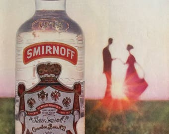 1960 Smirnoff Vodka ad, with the breathless ingredient.
