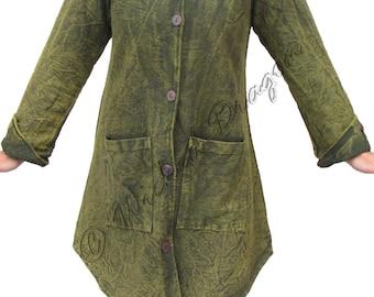 Fleece lined pixie coat with long hood