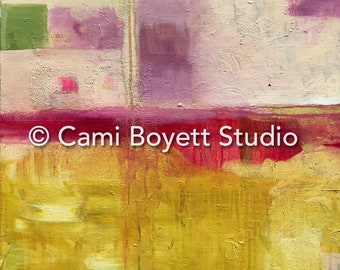 Pot of Gold - 30 x 40 - Original Mixed Media Abstract Painting on Gallery Wrap Canvas