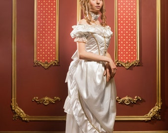 Anna Karenina Women's Historical Costume - Size 0 - A satin and lace Victorian dress with bustle