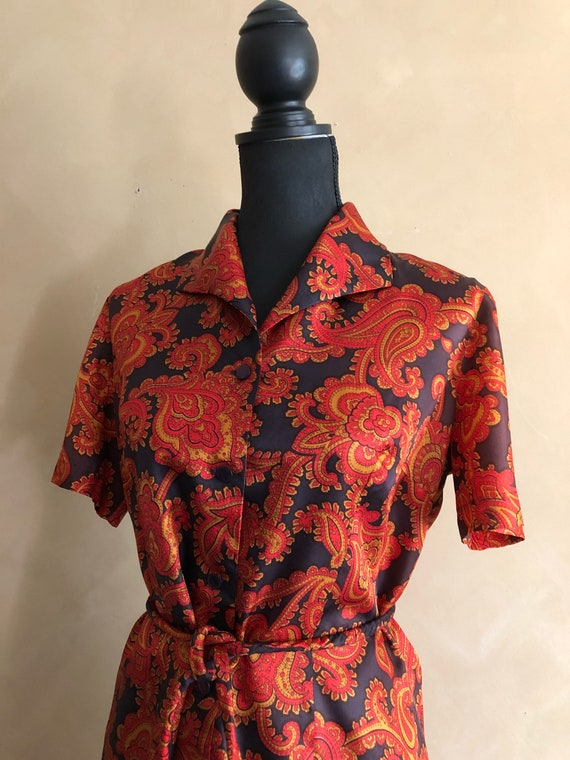 Vintage 60's Shirt Dress - Paisley Print - Kathi Originals