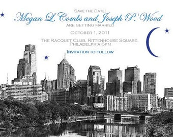 Philadelphia Skyline Save the Date or Invitation