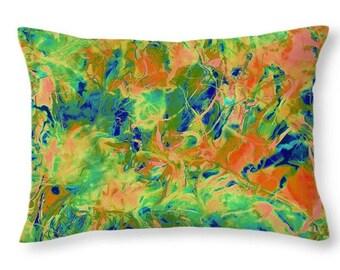 Decorative Floral Throw Pillow, Accent Pillow, Designer Home Decor, Abstract Art Printed Pillowcase, Home Fashion