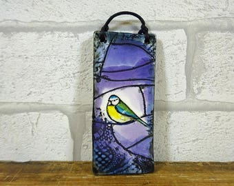 Small Blue Tit Hanging Tile