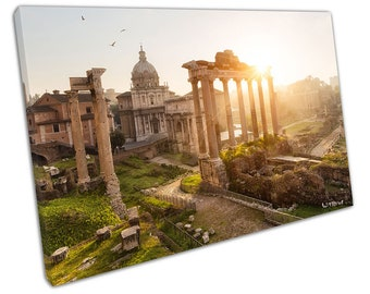 Morning sunrise over Roman ruins in Rome Italy Landscape Ready to Hang X1291