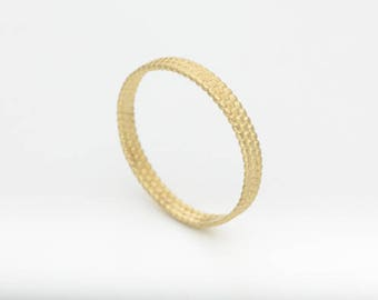 Thin Wedding Band, Dainty Wedding Band, Recycled Gold, 14k Yellow Gold Ring, Stacking Rings