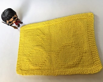 PDF Pattern:Harry Potter Glasses & Scar Dishcloth/Washcloth