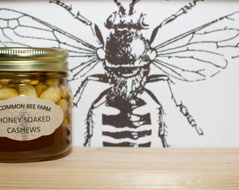 10oz Raw Unfilitered Honey Soaked Cashews