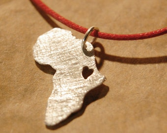Africa Necklace Map Personalized Pendant, Ethiopia Necklace, Africa Map Sterling Silver 935 in a kraft gift box with an Extra Free Gift.