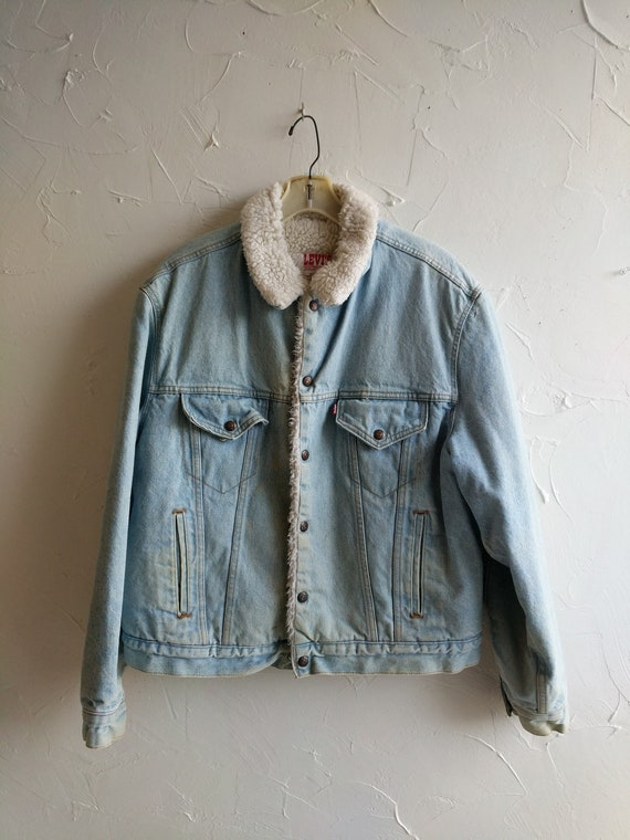Winter Heavy Coat Jacket Rustic Levi Mens Jacket Coat Shearling Insulated Ranch Denim Vintage Extreme Cattleman Barn xf0TqHf6