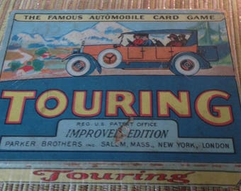 1926 Touring Automobile Card Game in Original Box