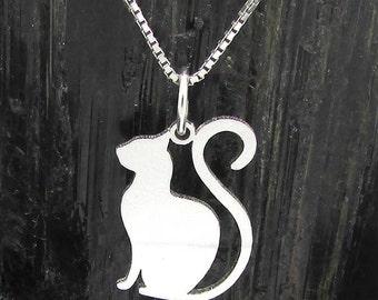 Cat Silhouette pendant, Cat Silhouette Pendant # 1