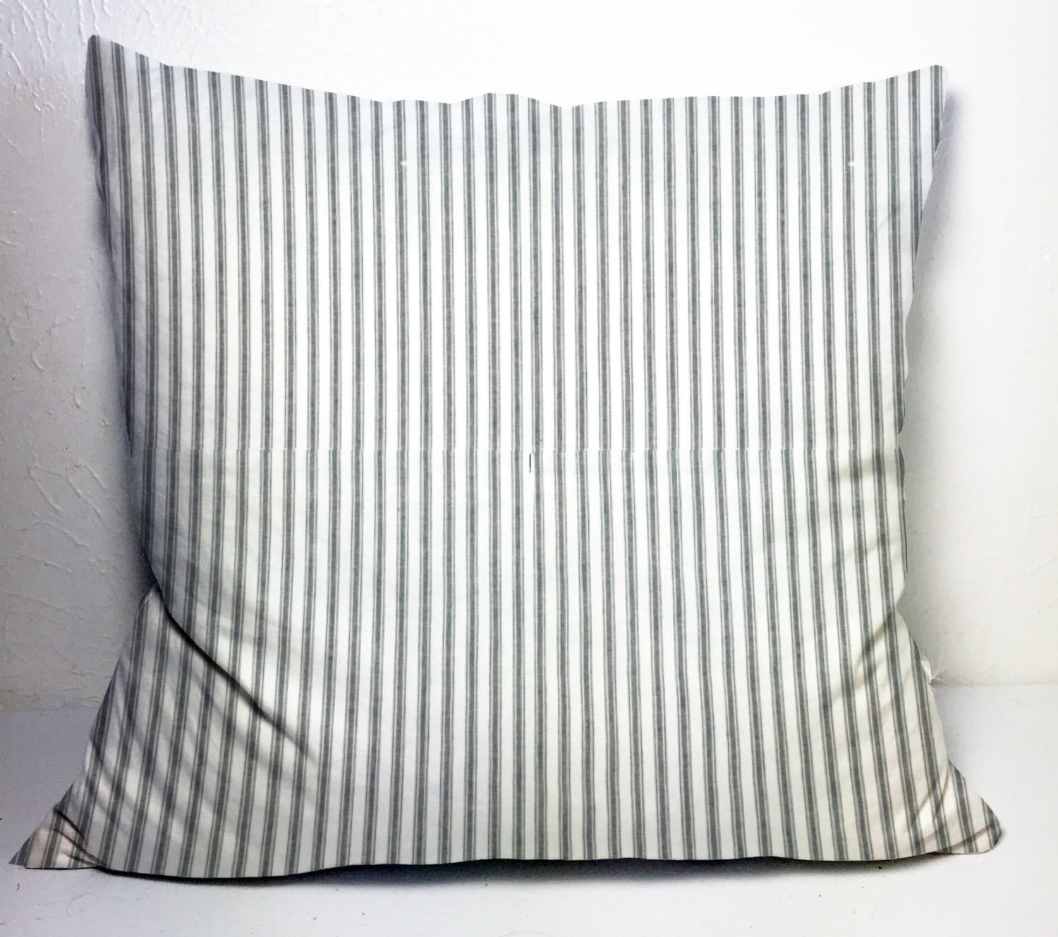 Farmhouse pillow covers 24x24 in set of 2, gray ticking pillow ...