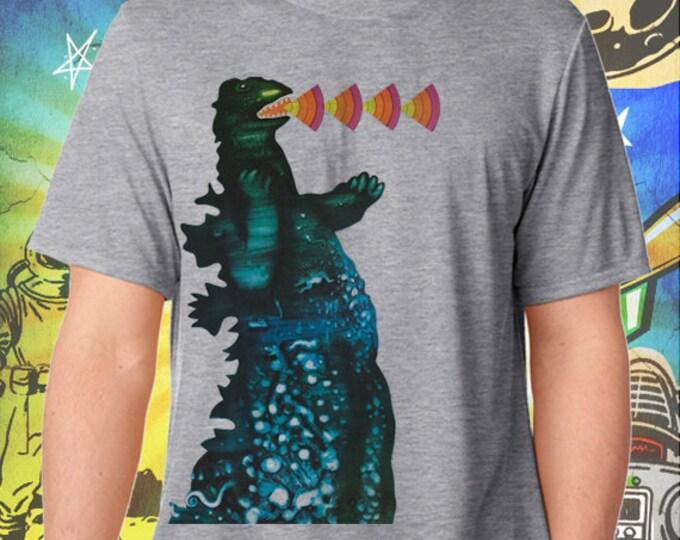 Godzilla / Poster / Men's Gray Performance T-Shirt