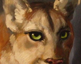 Puma - original daily painting by Kellie Marian Hill