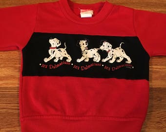 80s/90s AMAZING 101 Dalmations vintage crewneck sweatshirt sweater shirt tee Walt Disney VHS video film movie cool cute kids children htf