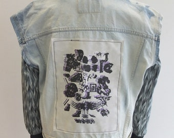 OOAK Reworked Vintage Calvin Klein Vest w/ One of a Kind Patch