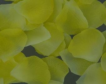 400 piece silk rose petals YELLOW