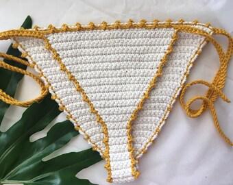 Crochet Bikini bottoms LUCIA cheeky brazilian style