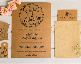CUSTOM Wedding Invites**