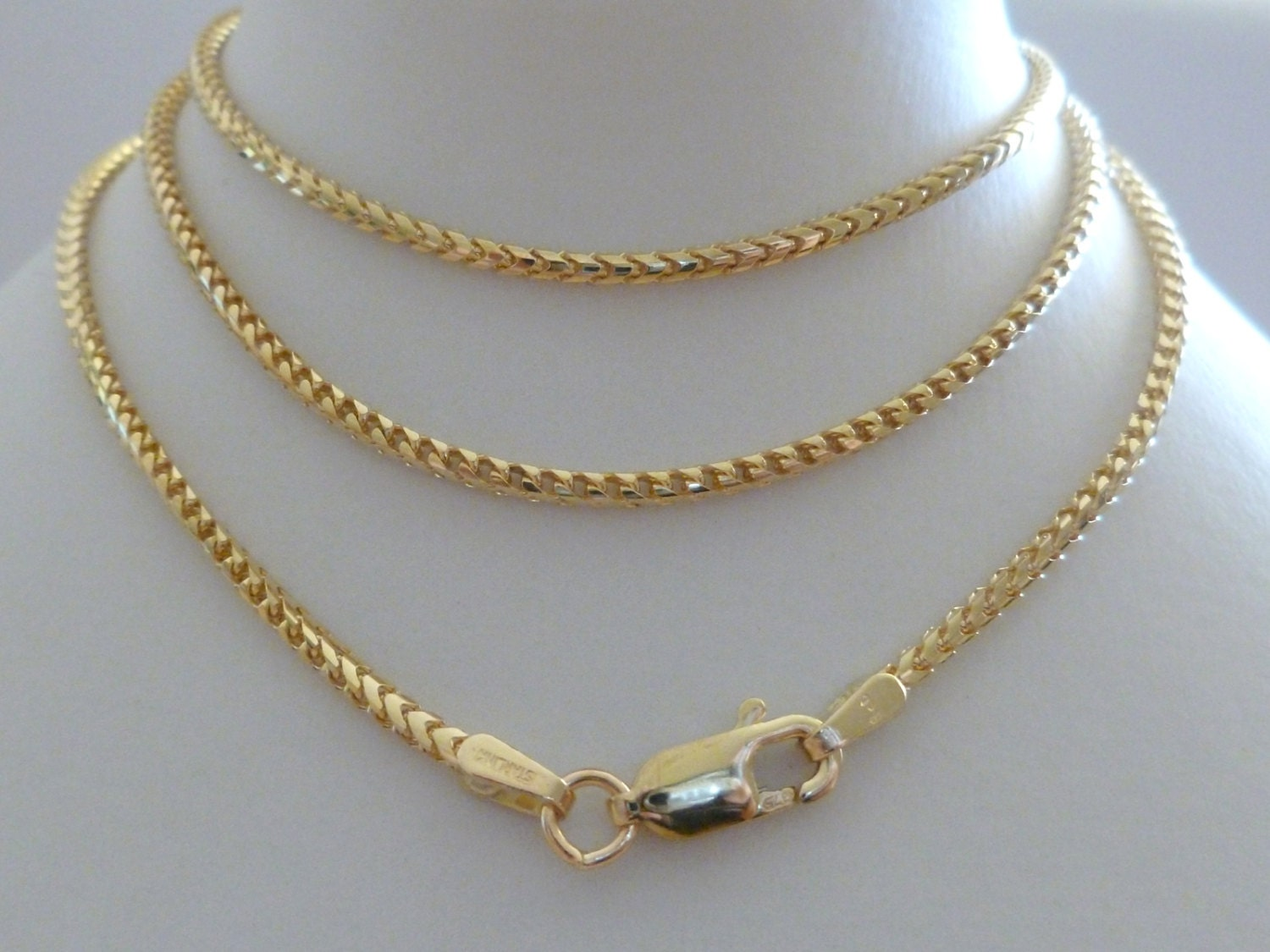 real cut chain gold yellow img solid ebay link cuban necklace itm diamond