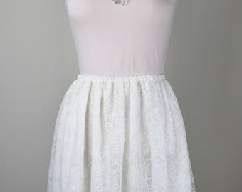 Lace Flared Skirt
