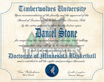 Unc Tar Heels Ultimate Basketball Fan Personalized Diploma