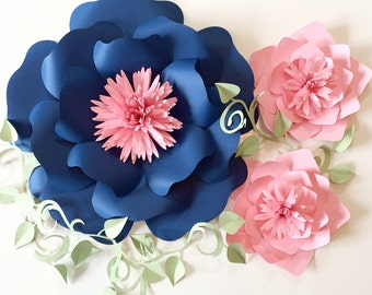 Paper Flower Backdrop, Giant Paper Flowers, Wedding Backdrop, Paper Flowers, Wedding Centerpiece