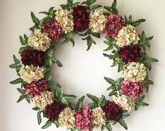XXL WREATHS | Spring Hydrangea Wreaths | Front Door Wreaths | Valentines Day Wreath Decor | Year Round Decor | Wreaths | Summer Wreath