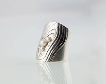 ring cuff - Perlentaucher No.9