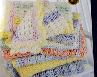 Crocheted Blankets for Baby Lion Brand Yarn Homespun Baby   Leisure Arts