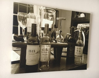 Wine time on canvas